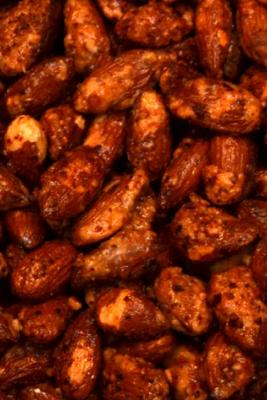 Honning-chili ristede mandler, 25g